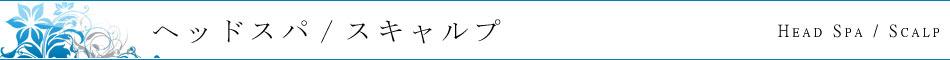 ヘッドスパ/スキャルプ(頭皮ケア)
